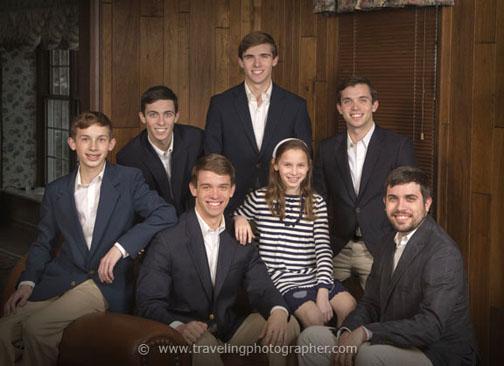 Family portrait at home in Malvern Pennsylvania