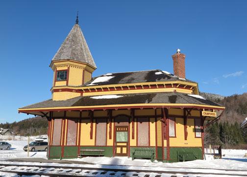 Crawford Train Depot New Hampshire - Winter