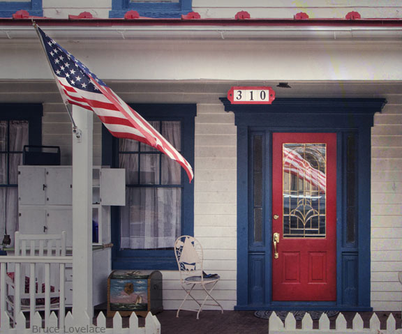 Photography Workshop Red White and Blue Porch