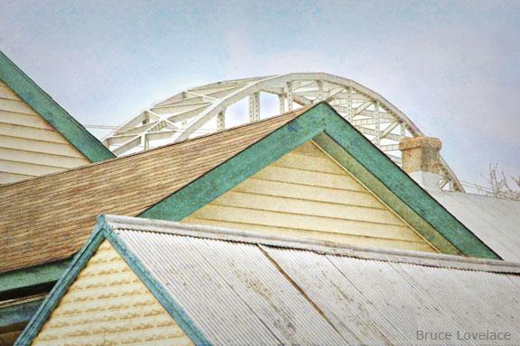 Chesapeake City Roof Tops and Bridge