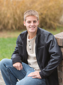 Back yard senior picture