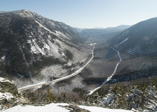 Crawford-Notch From Mt. Willard Trail - January 2016 The Traveling Photographer