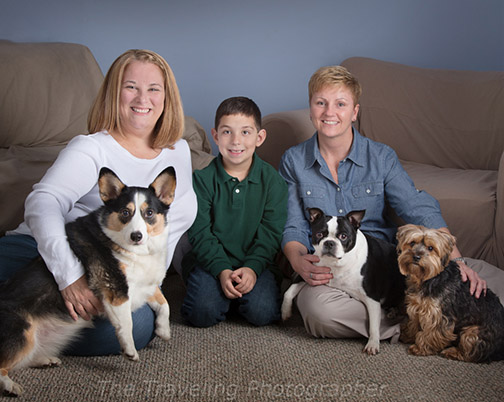 Family portrait example