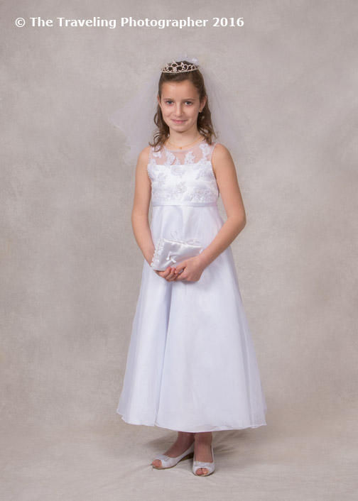 Formal Indoor First Communion Portrait