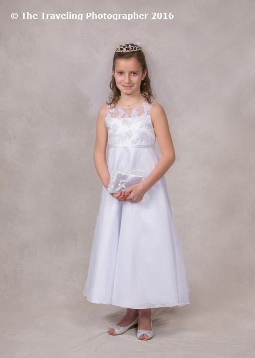 Formal Indoor First Communion Portrait