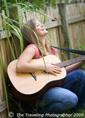 Guitar-playing senior girl in Pitman NJ