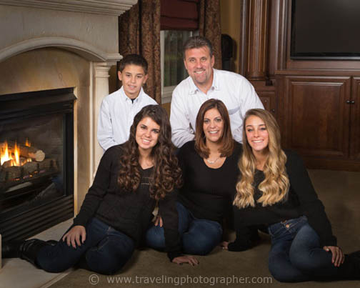 In-home family portrait photography by The Traveling Photographer