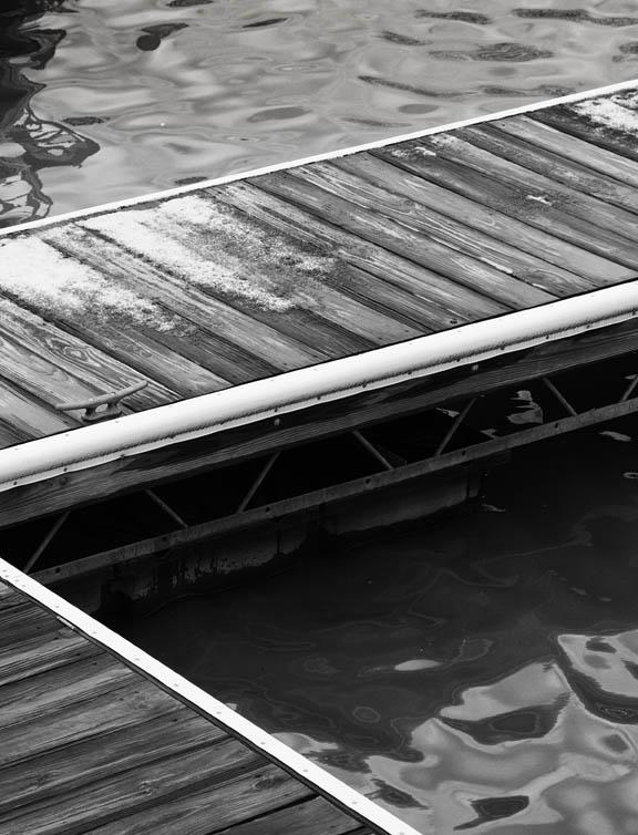 Chesapeake Marina Abstract Black and White
