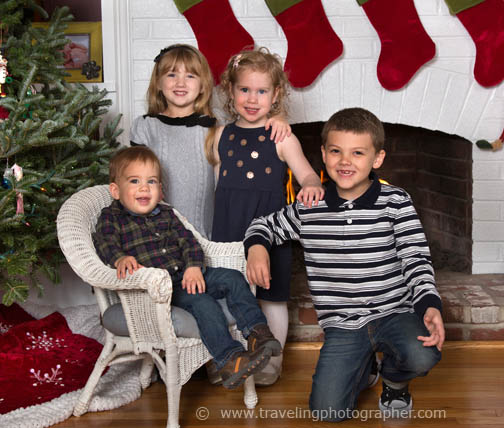 Holiday portraits of kids at home in Pitman NJ 2015