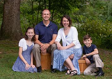 Outdoor family portrait - Pitman NJ