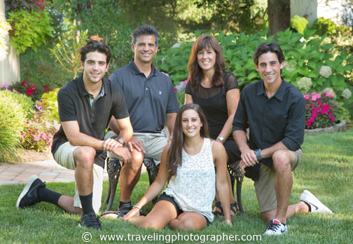 Outdoor family portrait taken in Mullica Hill New Jersey by The Traveling Photographer