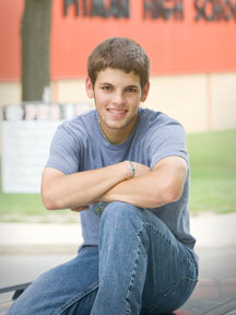 Senior portrait at Pitman High School