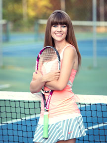 Senior portrait tennis player