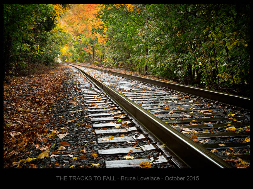 Local travel photograph - railroad tracks in the Fall Pitman NJ