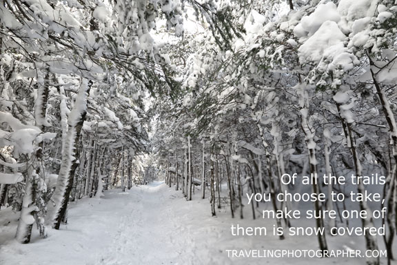 Traveling Photographer Inspirational Photo New Hampshire in Winter
