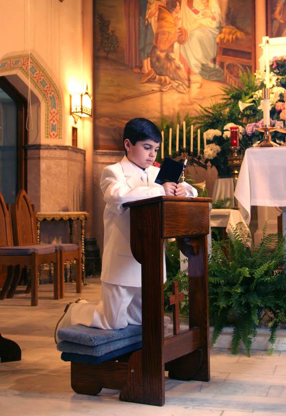 Communion Portrait at Church