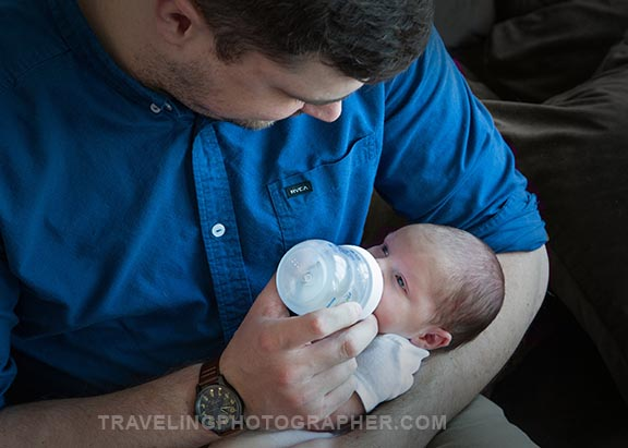 Newborn and father sewell NJ