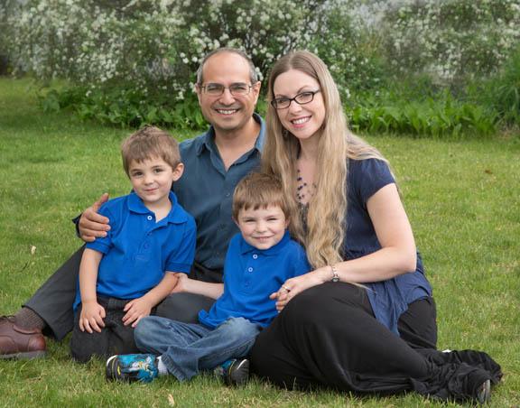 Family Portrait Taken in Woodbury New Jersey