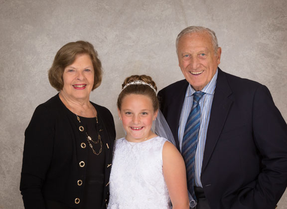 Family portrait at Holy Communion